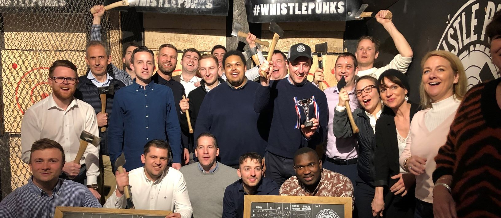 Battersea Team take on MACE at Axe Throwing!